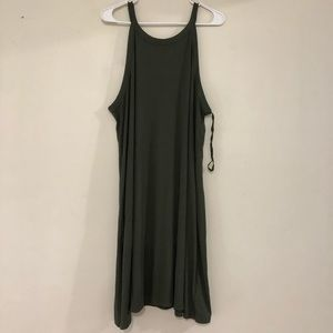 Gap Olive Swing Dress Plus Size